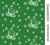 vintage doodles seamless...   Shutterstock .eps vector #1033685941