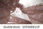 empty smooth abstract room...   Shutterstock . vector #1033686115