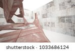 empty smooth abstract room... | Shutterstock . vector #1033686124