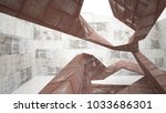 empty smooth abstract room...   Shutterstock . vector #1033686301
