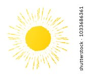 hand drawn cute sun icon.... | Shutterstock .eps vector #1033686361