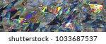 3d render  abstract crystal... | Shutterstock . vector #1033687537