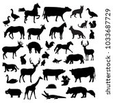 farm animals vector | Shutterstock .eps vector #1033687729