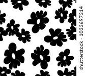 vector seamless flower pattern... | Shutterstock .eps vector #1033697314