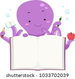 illustration of an octopus... | Shutterstock .eps vector #1033702039