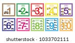 learning numbers  mathematics... | Shutterstock .eps vector #1033702111