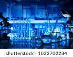 science concept. laboratory... | Shutterstock . vector #1033702234