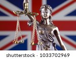 symbol of law and justice with... | Shutterstock . vector #1033702969