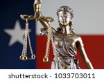 symbol of law and justice with... | Shutterstock . vector #1033703011