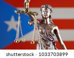 symbol of law and justice with... | Shutterstock . vector #1033703899
