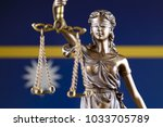 symbol of law and justice with... | Shutterstock . vector #1033705789