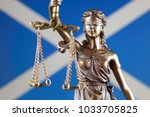 symbol of law and justice with... | Shutterstock . vector #1033705825