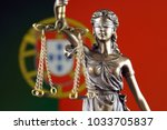 symbol of law and justice with... | Shutterstock . vector #1033705837