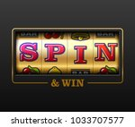spin and win  slot machine... | Shutterstock .eps vector #1033707577