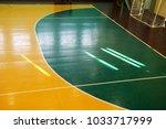 interior of a sport games hall | Shutterstock . vector #1033717999