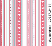 chic seamless striped pattern... | Shutterstock .eps vector #1033719484