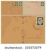 vintage postcards | Shutterstock .eps vector #103372079