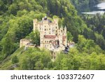 german hohenschwangau castle in ... | Shutterstock . vector #103372607