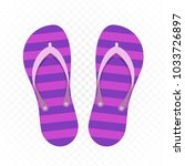 beach slippers isolated on... | Shutterstock .eps vector #1033726897