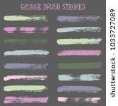 modern watercolor daubs set ... | Shutterstock .eps vector #1033727089