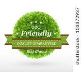 Eco Friendly Label. Green...