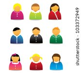 colored avatar set or profile... | Shutterstock .eps vector #103372949