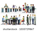 business meeting and... | Shutterstock . vector #1033729867