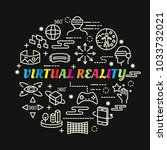 virtual reality colorful... | Shutterstock .eps vector #1033732021