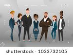 main page business design with... | Shutterstock .eps vector #1033732105