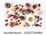 flat lay with arrangement of... | Shutterstock . vector #1033734484