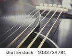guitar and vinyl record  | Shutterstock . vector #1033734781