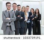 portrait of a professional team ...   Shutterstock . vector #1033739191
