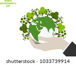 save earth planet world concept.... | Shutterstock .eps vector #1033739914