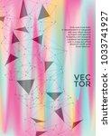 vector report template. global... | Shutterstock .eps vector #1033741927