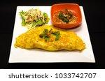 egg wrap thai food omelette... | Shutterstock . vector #1033742707