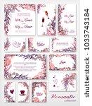 wedding invitation frame set  ... | Shutterstock .eps vector #1033743184