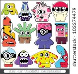 set of twelve monsters | Shutterstock .eps vector #103374479