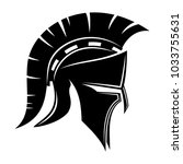 spartan helmet on white... | Shutterstock .eps vector #1033755631
