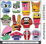 set of twelve monsters | Shutterstock .eps vector #103375661