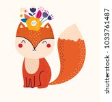 vector illustration with cute... | Shutterstock .eps vector #1033761487