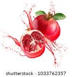 Pomegranates In Juice Splash...