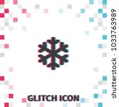simple  snowflake glitch effect ... | Shutterstock .eps vector #1033763989