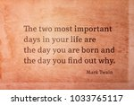 the two most important days in... | Shutterstock . vector #1033765117