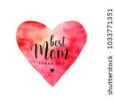 mother's day card. red... | Shutterstock .eps vector #1033771351