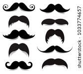 mustache big set  | Shutterstock . vector #1033774657