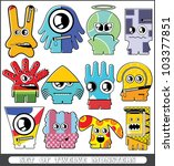 set of twelve monsters | Shutterstock .eps vector #103377851