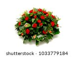 funeral flowers   ikebana... | Shutterstock . vector #1033779184