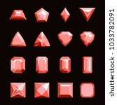 collection of gems and... | Shutterstock .eps vector #1033782091