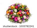 funeral  wreath flowers... | Shutterstock . vector #1033782241