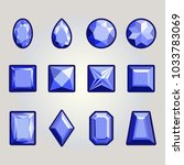 collection of gems and... | Shutterstock .eps vector #1033783069